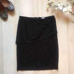 Cabi Black Overlay Pencil Skirt